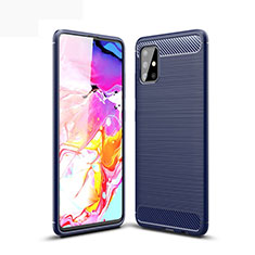 Custodia Silicone Cover Morbida Line per Samsung Galaxy A51 5G Blu