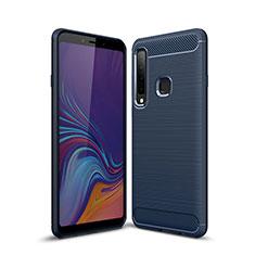 Custodia Silicone Cover Morbida Line per Samsung Galaxy A9s Blu