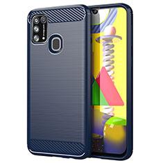 Custodia Silicone Cover Morbida Line per Samsung Galaxy M21s Blu