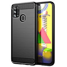 Custodia Silicone Cover Morbida Line per Samsung Galaxy M31 Nero