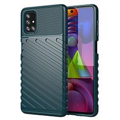 Custodia Silicone Cover Morbida Line per Samsung Galaxy M51 Verde
