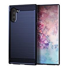 Custodia Silicone Cover Morbida Line per Samsung Galaxy Note 10 5G Blu