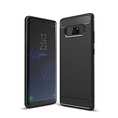 Custodia Silicone Cover Morbida Line per Samsung Galaxy Note 8 Nero