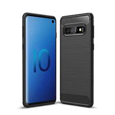Custodia Silicone Cover Morbida Line per Samsung Galaxy S10 5G Nero