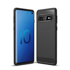 Custodia Silicone Cover Morbida Line per Samsung Galaxy S10 Nero