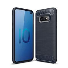 Custodia Silicone Cover Morbida Line per Samsung Galaxy S10e Blu