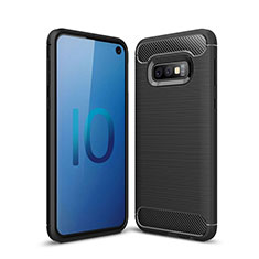 Custodia Silicone Cover Morbida Line per Samsung Galaxy S10e Nero