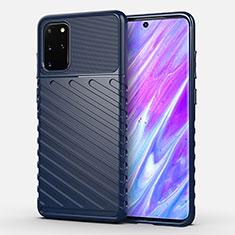 Custodia Silicone Cover Morbida Line per Samsung Galaxy S20 Plus 5G Blu