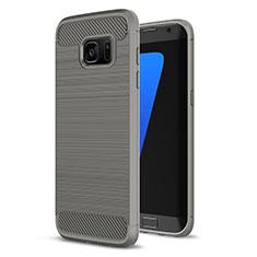 Custodia Silicone Cover Morbida Line per Samsung Galaxy S7 Edge G935F Grigio