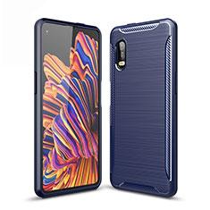 Custodia Silicone Cover Morbida Line per Samsung Galaxy XCover Pro Blu