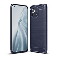 Custodia Silicone Cover Morbida Line per Xiaomi Mi 11 5G Blu