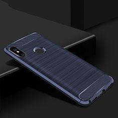 Custodia Silicone Cover Morbida Line per Xiaomi Mi A2 Lite Blu