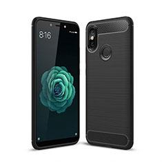 Custodia Silicone Cover Morbida Line per Xiaomi Mi A2 Nero
