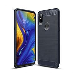 Custodia Silicone Cover Morbida Line per Xiaomi Mi Mix 3 Blu