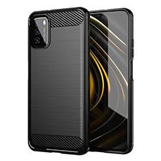 Custodia Silicone Cover Morbida Line per Xiaomi Poco M3 Nero
