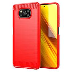Custodia Silicone Cover Morbida Line per Xiaomi Poco X3 NFC Rosso