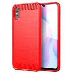 Custodia Silicone Cover Morbida Line per Xiaomi Redmi 9A Rosso
