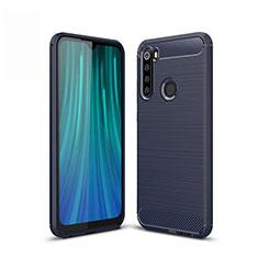 Custodia Silicone Cover Morbida Line per Xiaomi Redmi Note 8 Blu