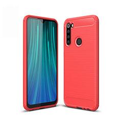 Custodia Silicone Cover Morbida Line per Xiaomi Redmi Note 8 Rosso