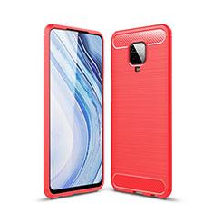 Custodia Silicone Cover Morbida Line per Xiaomi Redmi Note 9 Pro Rosso