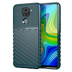 Custodia Silicone Cover Morbida Line per Xiaomi Redmi Note 9 Verde
