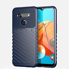 Custodia Silicone Cover Morbida Line S01 per LG K51 Blu