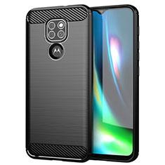 Custodia Silicone Cover Morbida Line S01 per Motorola Moto G9 Play Nero