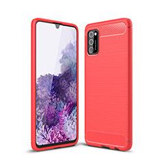 Custodia Silicone Cover Morbida Line S01 per Samsung Galaxy A41 Rosso