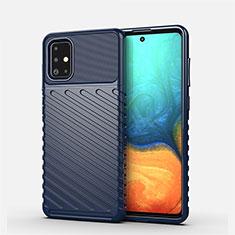 Custodia Silicone Cover Morbida Line S01 per Samsung Galaxy A71 5G Blu