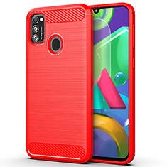 Custodia Silicone Cover Morbida Line S01 per Samsung Galaxy M30s Rosso