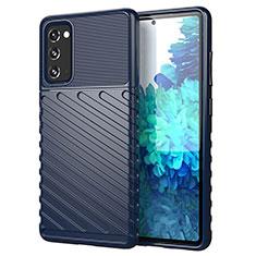 Custodia Silicone Cover Morbida Line S01 per Samsung Galaxy S20 FE 5G Blu