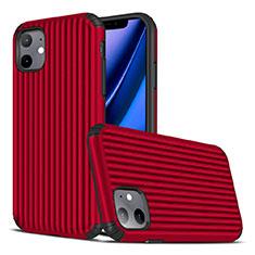 Custodia Silicone Cover Morbida Line Z01 per Apple iPhone 11 Rosso