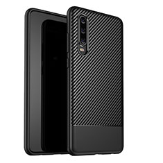 Custodia Silicone Cover Morbida Spigato G02 per Huawei P30 Nero