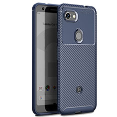 Custodia Silicone Cover Morbida Spigato per Google Pixel 3 XL Blu