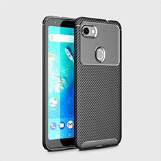 Custodia Silicone Cover Morbida Spigato per Google Pixel 3a Nero