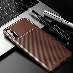 Custodia Silicone Cover Morbida Spigato per Huawei Enjoy 10e Marrone