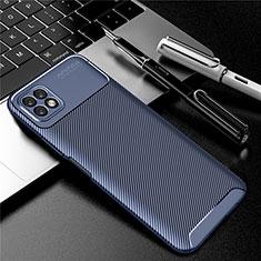Custodia Silicone Cover Morbida Spigato per Huawei Enjoy 20 5G Blu