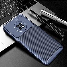 Custodia Silicone Cover Morbida Spigato per Huawei Enjoy 20 Plus 5G Blu