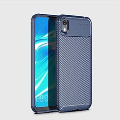 Custodia Silicone Cover Morbida Spigato per Huawei Enjoy 8S Blu