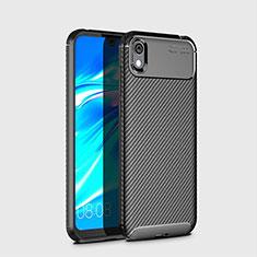 Custodia Silicone Cover Morbida Spigato per Huawei Enjoy 8S Nero