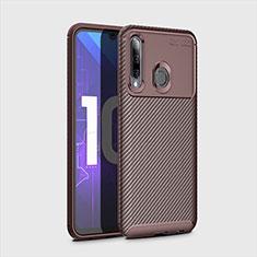 Custodia Silicone Cover Morbida Spigato per Huawei Enjoy 9s Marrone