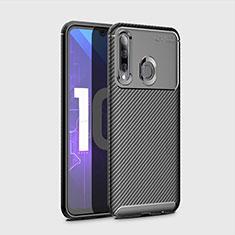 Custodia Silicone Cover Morbida Spigato per Huawei Enjoy 9s Nero