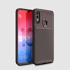 Custodia Silicone Cover Morbida Spigato per Huawei Honor 10 Lite Marrone