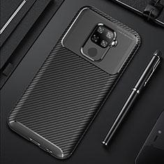 Custodia Silicone Cover Morbida Spigato per Huawei Mate 30 Lite Nero