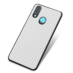 Custodia Silicone Cover Morbida Spigato per Huawei Nova 3 Bianco