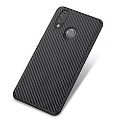 Custodia Silicone Cover Morbida Spigato per Huawei Nova 3 Nero