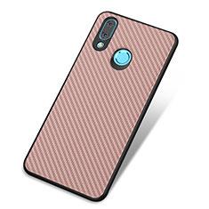 Custodia Silicone Cover Morbida Spigato per Huawei Nova 3 Oro Rosa