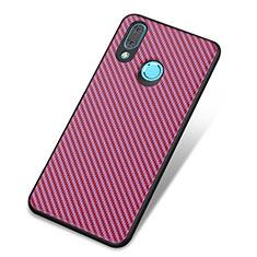 Custodia Silicone Cover Morbida Spigato per Huawei Nova 3 Viola