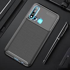 Custodia Silicone Cover Morbida Spigato per Huawei Nova 5i Nero