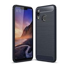 Custodia Silicone Cover Morbida Spigato per Huawei P Smart+ Plus Blu